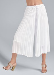 Waist down front view Pleated Pant