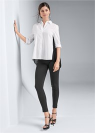 Full front view Pleated Blouse