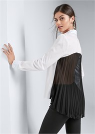 Cropped back view Pleated Blouse