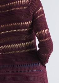 Detail back view Long Crochet Duster