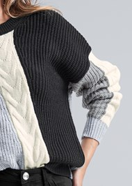 Detail front view Color Blocked Sweater