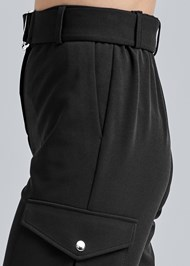 Detail side view Belted Cargo Pants