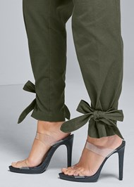 Detail side view High Waist Belted Pants