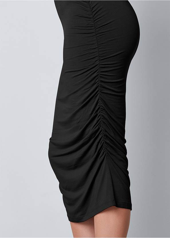 Alternate View Long Sleeve Ruched Dress