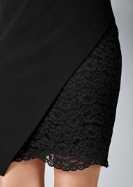 Alternate View Lace Surplice Detail Dress