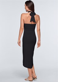 Back View Waterfall Maxi Dress