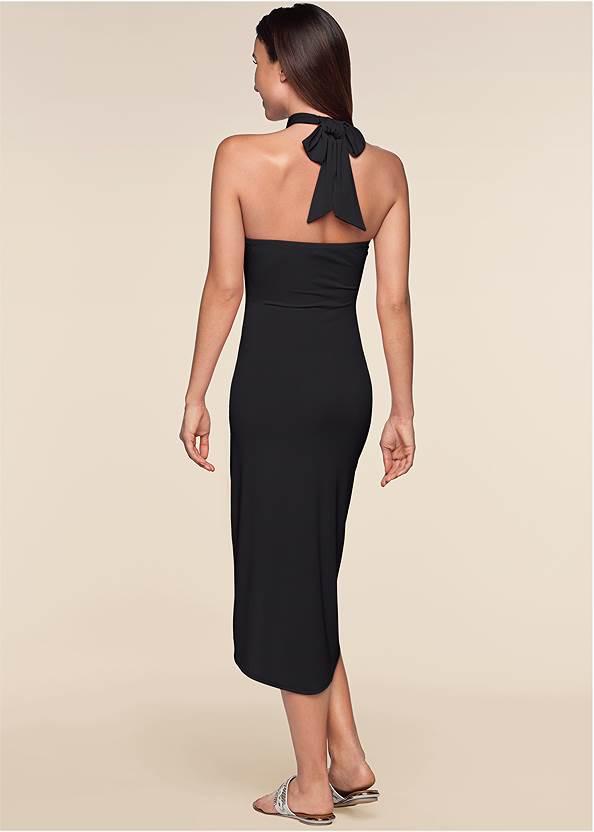Back View Waterfall Maxi Dress