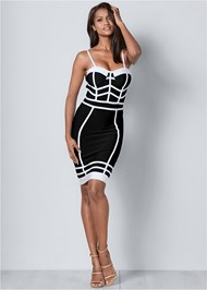 Alternate View Bandage Bodycon Dress