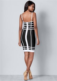 Back View Bandage Bodycon Dress