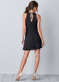 Alternate View Embellished Ruffle Front Mini Dress