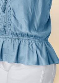 Alternate View Tassel Detail Strapless Top