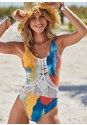Front View Misty Macrame One-Piece