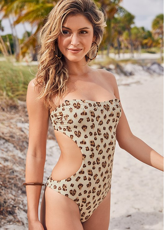 REVERSIBLE MONOKINI,CALI RING COVER-UP DRESS,MIXED MEDIA BANGLE SET