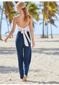 Back View Tie Back Jumpsuit Cover-Up