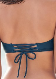 Alternate View Lace Up Back Bandeau Top