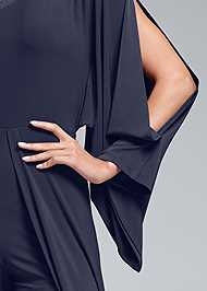 Detail front view One Shoulder Overlay Romper