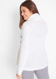 Cropped back view Button Detail Sweater