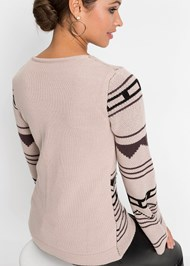 Detail  view Crew Neck Printed Sweater