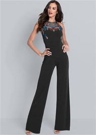 Full front view Embellished Jumpsuit