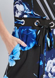 Detail front view Printed Tie Front Jumpsuit