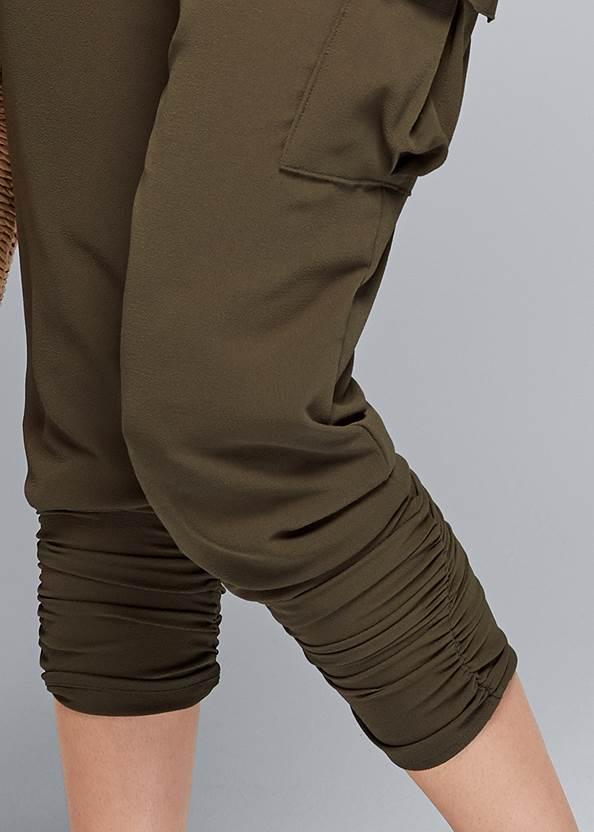 Detail front view Cargo Twofer Jumpsuit