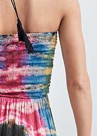 Detail back view Tie Dye Smocked Jumpsuit