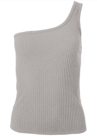 Alternate View Ribbed One Shoulder Top