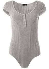 Alternate View Ribbed Henley Bodysuit
