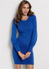 Front View Casual Sweater Dress