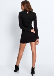 Full back view Bow Detail Sweater Dress