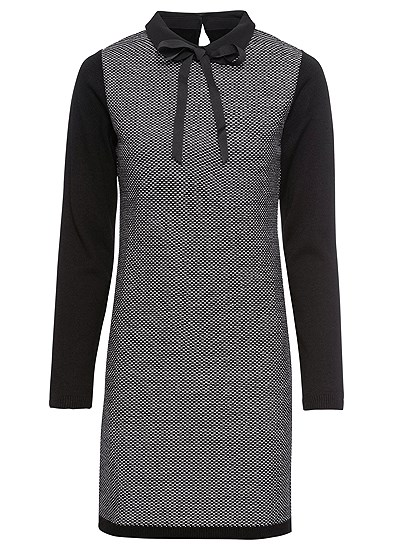 Plus Size Bow Detail Sweater Dress