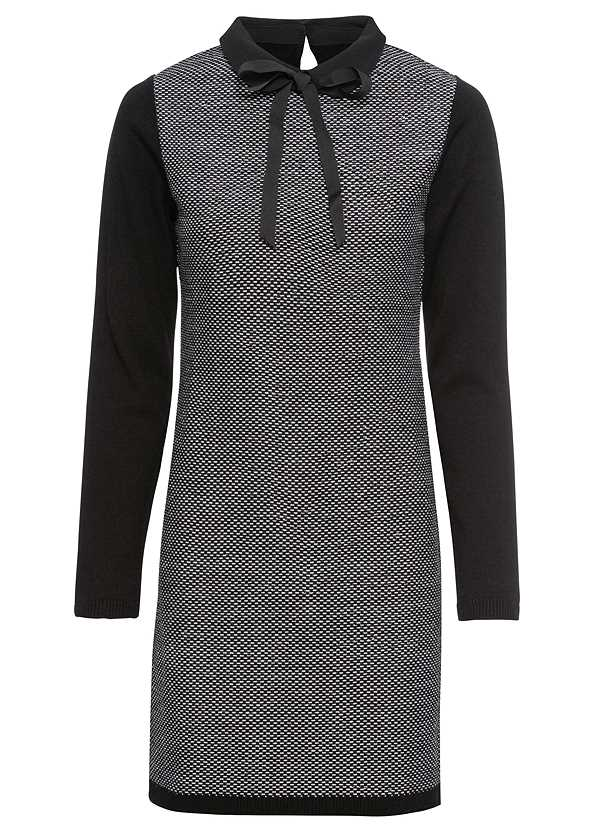 Bow Detail Sweater Dress,Knotted Slouchy Boots