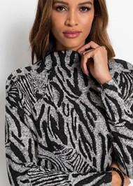 Detail  view Zebra Printed Sweater Dress