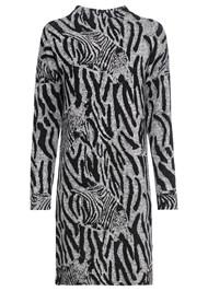 Alternate View Zebra Printed Sweater Dress