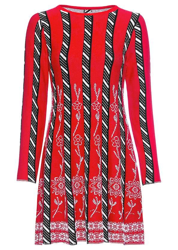 Alternate View Striped Sweater Dress