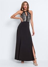 Alternate View Cut Out Detail Long Dress