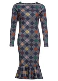 Alternate View Diamond Print Midi Dress