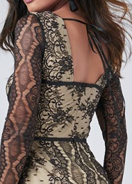 Alternate View Lace Corset Romper