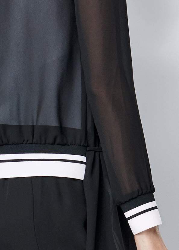Alternate View Stripe Trim Sheer Jacket