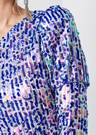 Alternate View One Shoulder Sequin Top