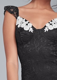 Alternate View High Low Lace Mini Dress