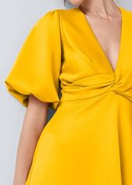 Alternate View Balloon Sleeve Midi Dress
