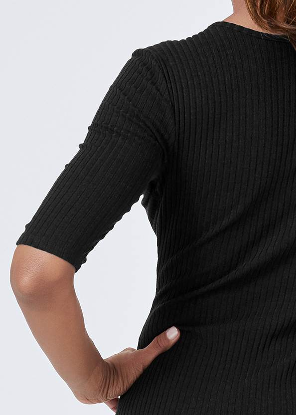 Alternate View Scooped Neck Ribbed Dress