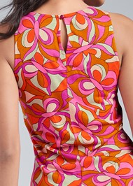 Alternate View Printed Flounce Dress