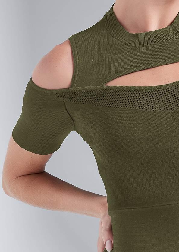 Alternate View Cold Shoulder Cut Out Dress