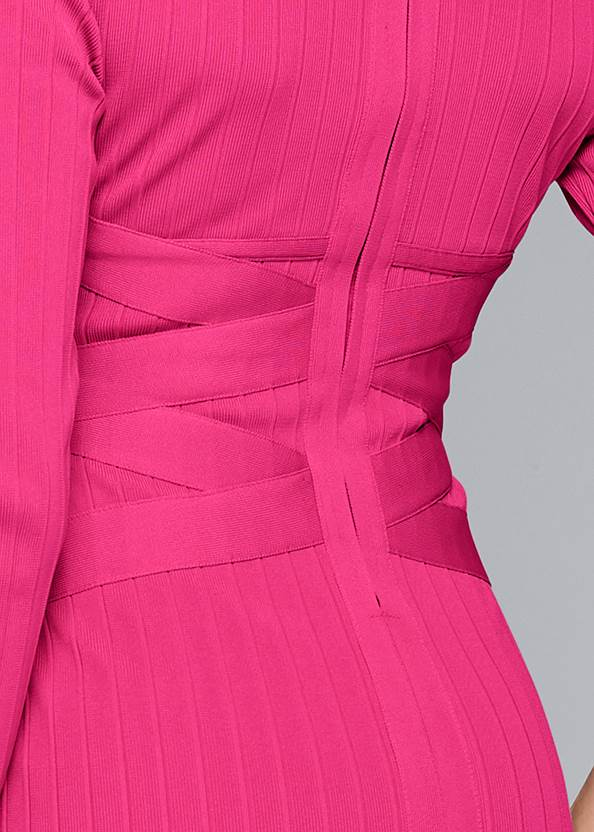 Alternate View Long Sleeve Bandage Dress