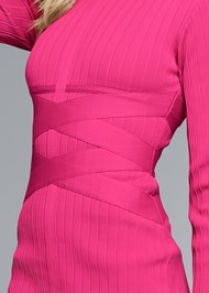 Alternate View Long Sleeve Bandage Dress