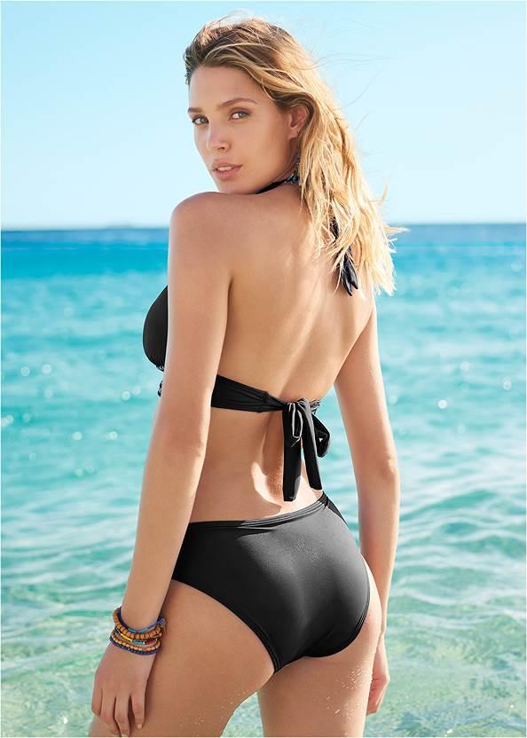 Back View Smocked Bikini Bottom