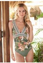 Front View Tribal Elastic Tankini