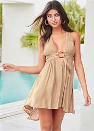 Front View Cali Ring Cover-Up Dress